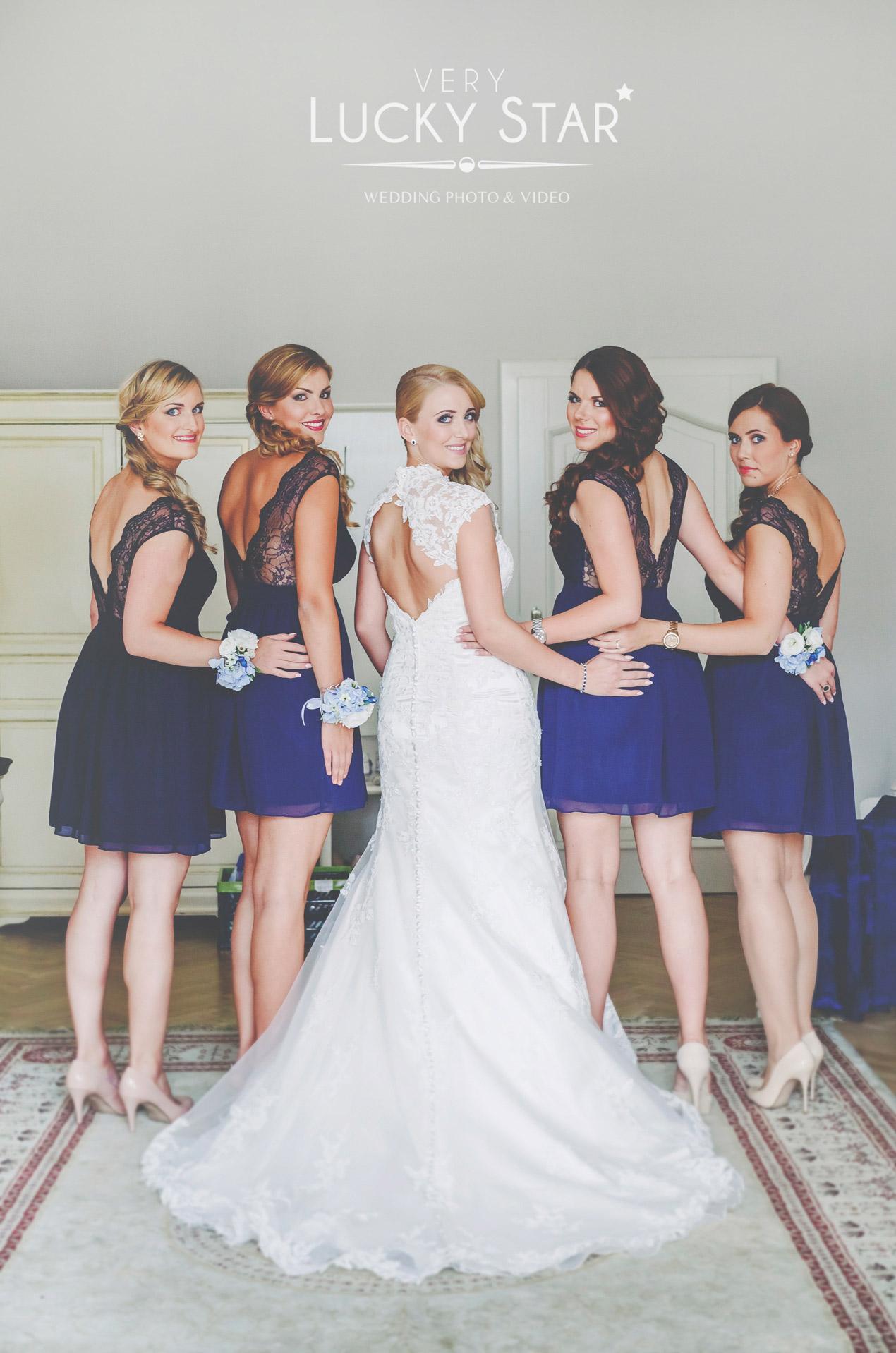 wesele w Pałacu Brunów, druhny, panna młoda, ślub, fotograf, dolny śląsk, hochzeit in polen location