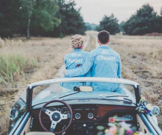 plener śluby z samochodem