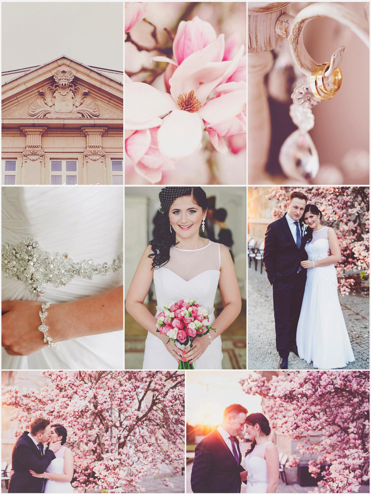 VeryLuckyStar_Pałac-Brunów-ślub-Vintage-kwitnące-magnolie
