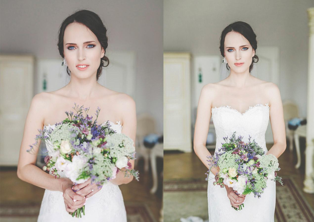 Panna młoda, bukiet naturalny, ślub, wesle