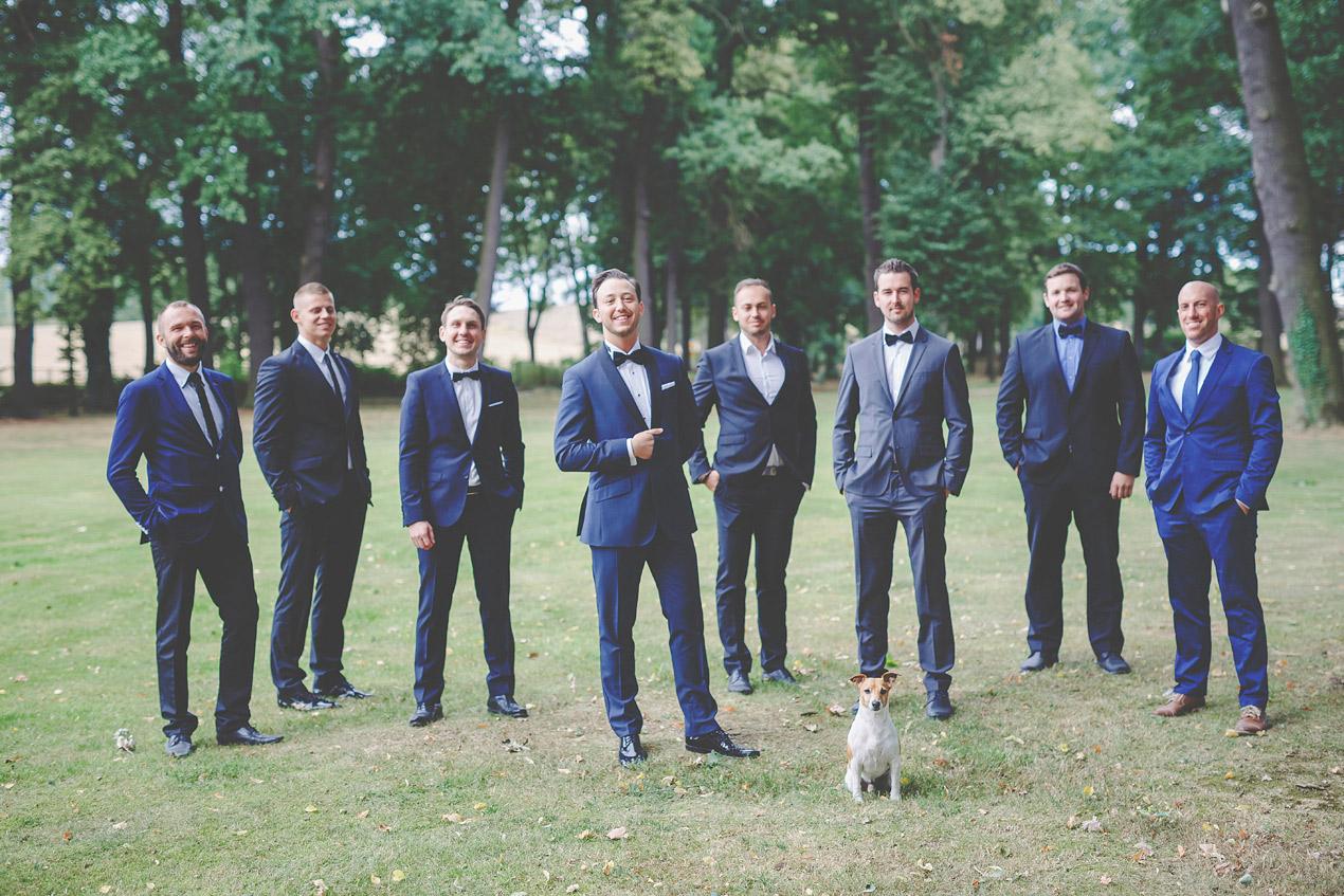 Pałac Brunów, sesja plenerowa, park, pies na weselu, pies na ślubie, pan młody