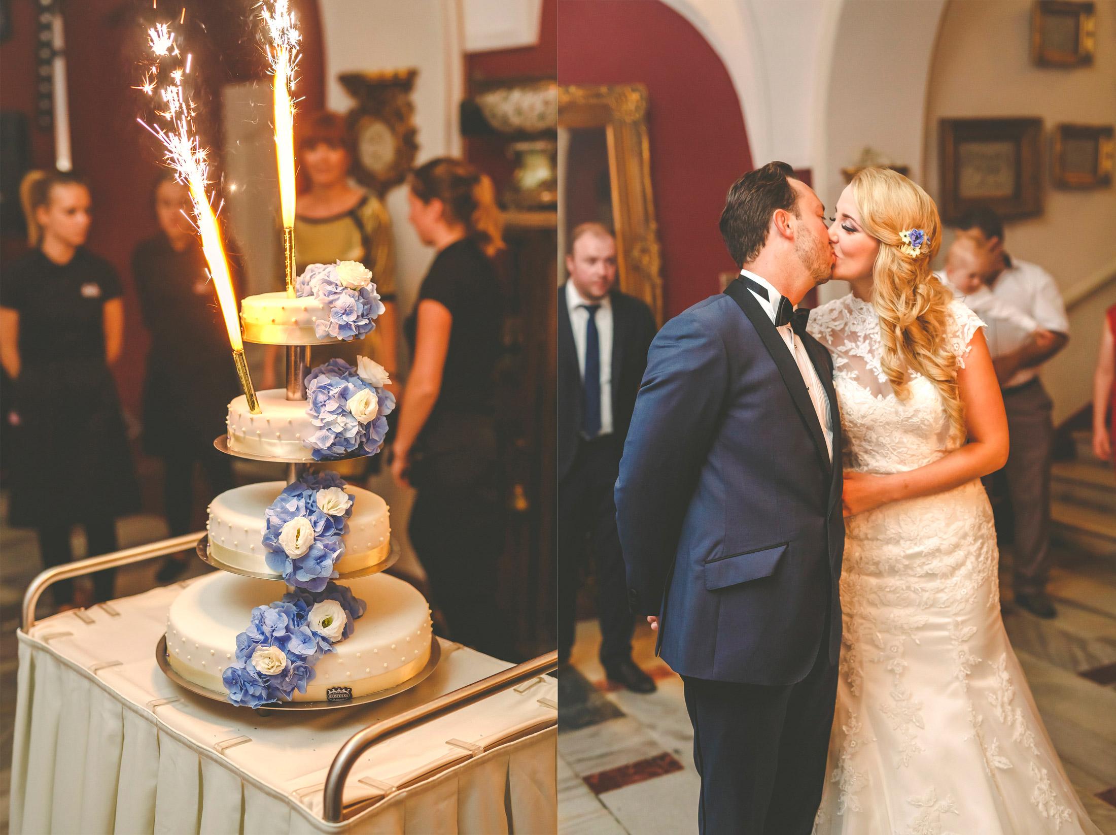 Pałac Brunów, tort, wesele w płacu