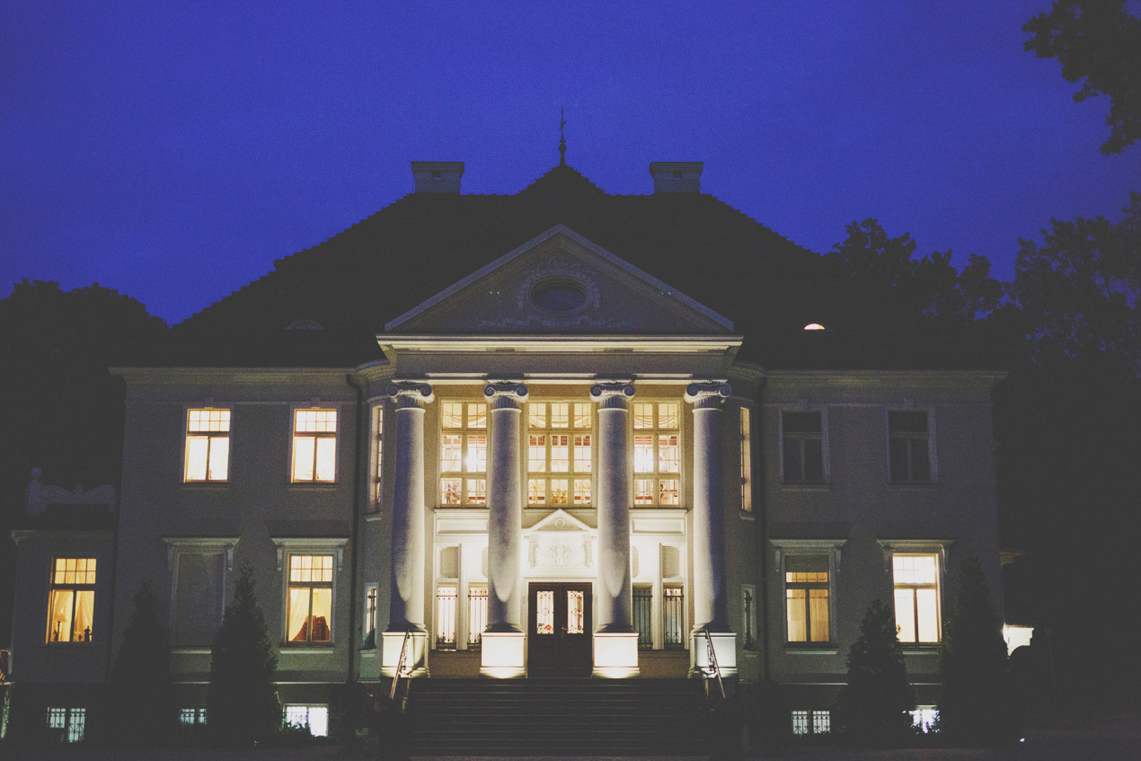 Pałac Tłokinia, ślub, wesele, noc