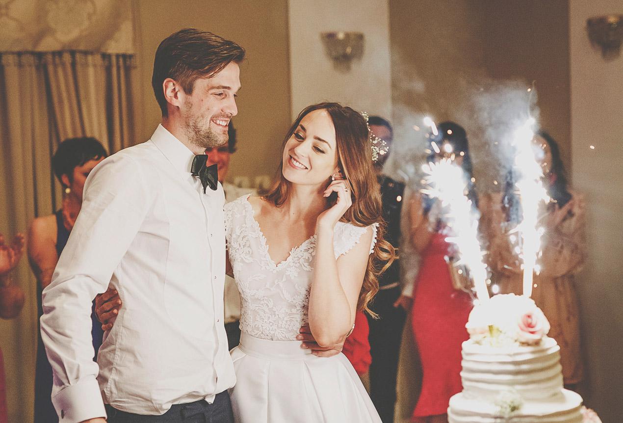 Pałac Wąsowo, tort, wesele, ślub