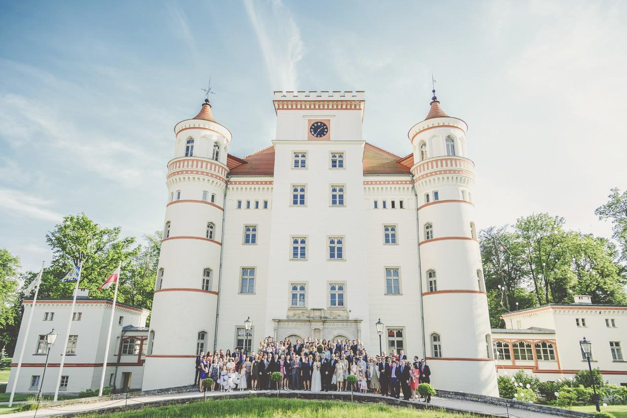 Pałac Wojanów, ślub, wesele, zdjęcie grupowe