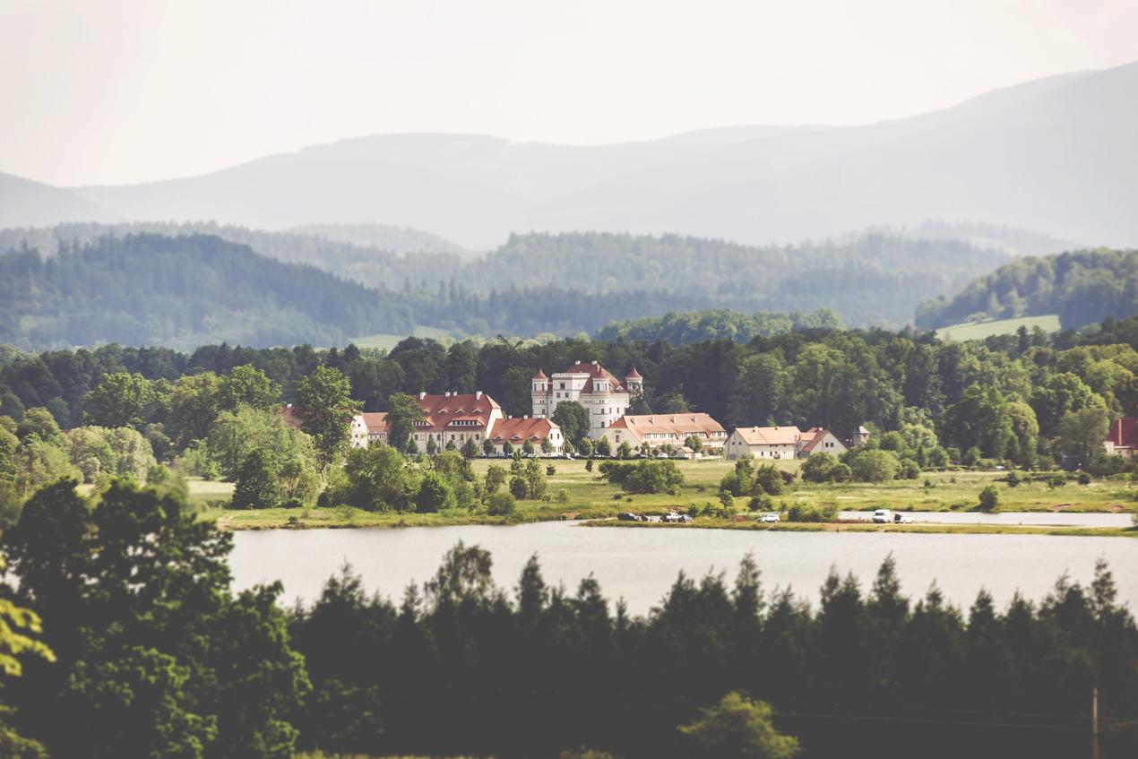 Pałac Wojanów panorama - fotografia slubna