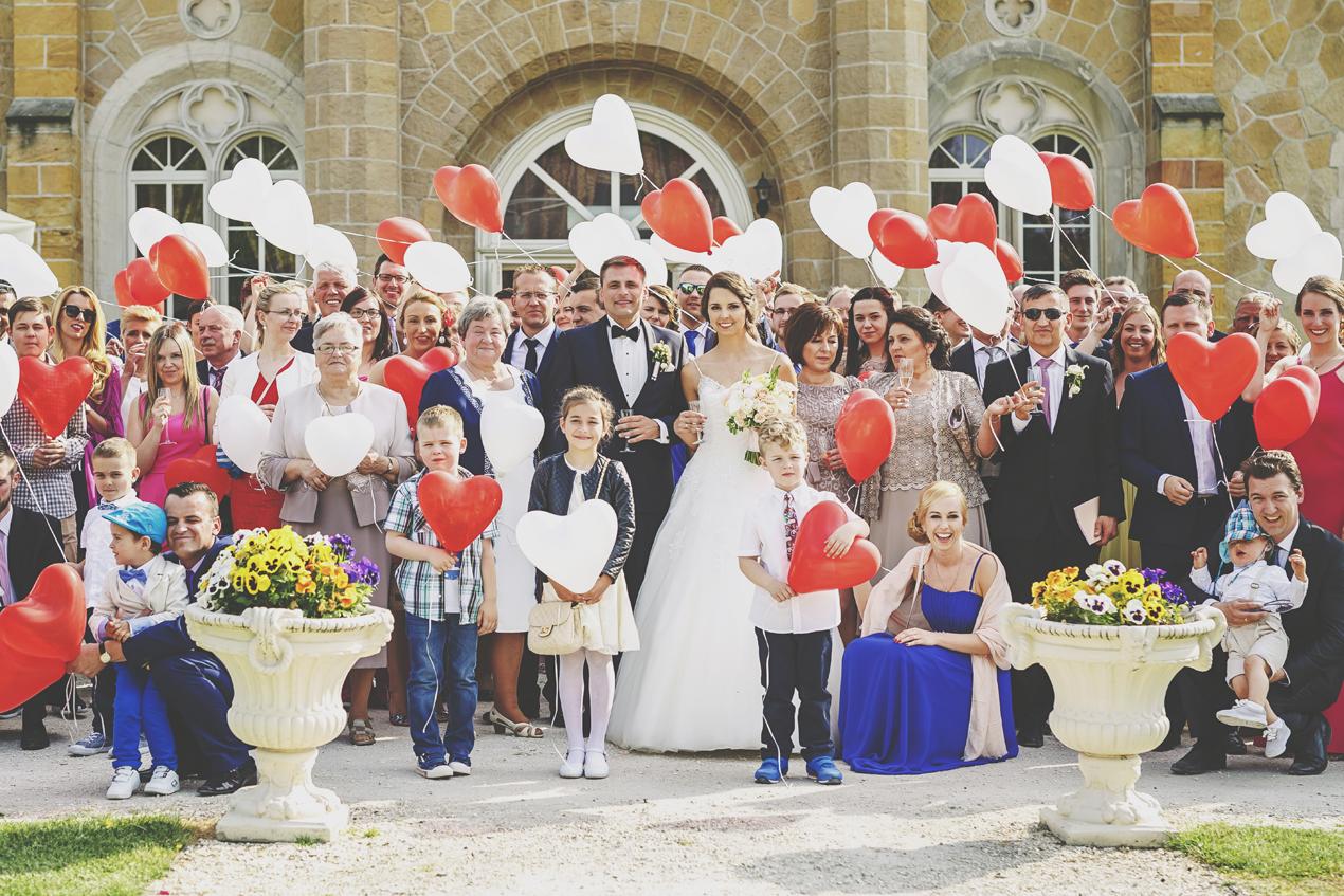 najlepsze zdjęcia ślubne, Pałac Brunów zdjęcie grupowe